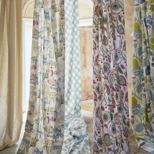 Clarke and Clarke Curtains in the Oriental Gardens range  - Available from Caroline's made to measure curtains York