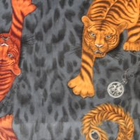 Clarke and Clarke - Tigris Flame fabric
